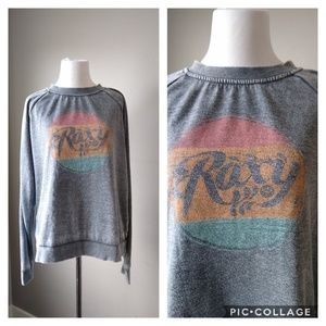 Roxy Ladies Long Sleeve Lightweight Gray Shirt